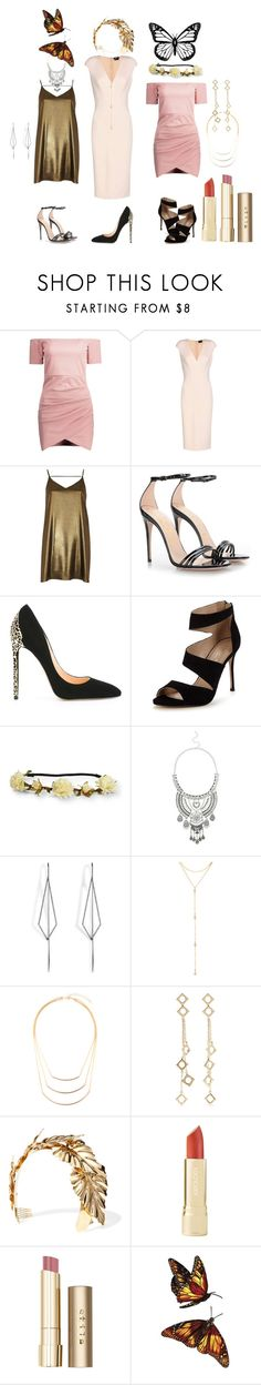 """Desert wedding"" by sunshinegarden ❤ liked on Polyvore featuring Tom Ford, River Island, Gucci, Cerasella Milano, Carvela, Aéropostale, Miss Selfridge, Diane Kordas, Fragments and Riah Fashion"