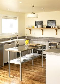kitchen - clean, modern, industrial