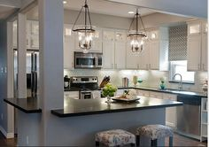 When you take out the wall in a raised ranch! I can REALLY see my kitchen like this!