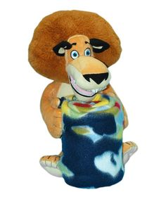 Take a look at this Alex Madagascar Plush Toy & Throw by The Northwest Company on #zulily today!