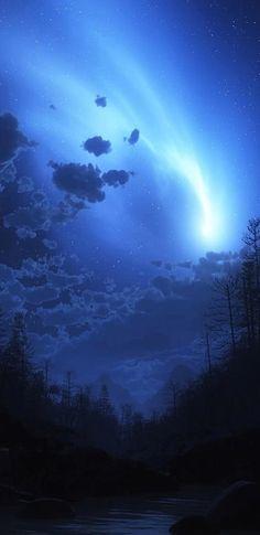 Blue, night, sky, storm, minimal, abstract, wallpaper, galaxy, clean, beauty, colour, minimal, s8, Samsung