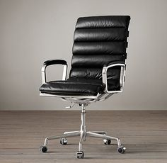 2. Oviedo Leather Desk Chair, multiple leather options