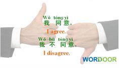 Wordoor Chinese - Useful daily Chinese sentences # Agree ; disagree
