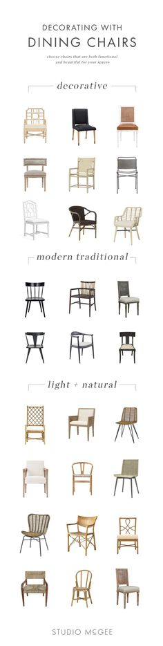 Dining Chair Roundup