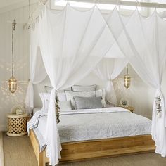 """""""  Moroccan inspired bedroom   image via @linenandmoore Natural, simple with moroccan pendants and those paneled walls, what a dreamy look! We often hear…"""""""