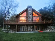 American lake house living