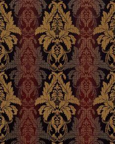 Damast behang EDEM 770-36 Barok behang structuur vinylbehang donker bruin bruin-rood bordeaux goud