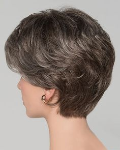 Ellen Wille Wigs Alexis Deluxe for thin hair over 50 Thin Hair Cuts, Short Thin Hair, Short Grey Hair, Short Hair With Layers, Hair Styles For Women Over 50, Short Hair Cuts For Women, Medium Hair Styles, Curly Hair Styles, Natural Hair Styles