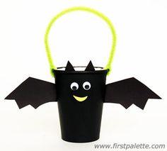 Paper Cup Bat Basket craft