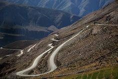Credit: Kevin Rushby  Through a series of hairpin bends the road rises rapidly to over 4,000 metres - I remember that road stunning & nauseating