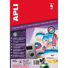 Comprar Etiquetas Para Mini CD Calidad Foto Apli 10395 #multimedia #etiquetas #mini #CD #calidad #foto