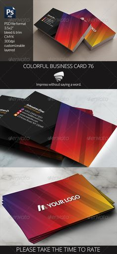 Colorful Business Card 76 — Photoshop PSD #blue #stripes • Available here → https://graphicriver.net/item/colorful-business-card-76/6800282?ref=pxcr
