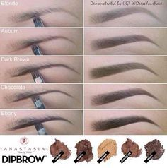 Eyebrow colors