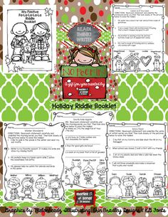 UNWRAP A GIFT LINKY PARTY WITH THE PRIMARY GAL Holiday Riddle Booklet FREEBIE Four thematic pages and a cover are included in this pack designed to encourage 1st and 2nd grade readers to use picture clues and word power to solve riddles about gingerbread, Santa, snow days, and winter fun!
