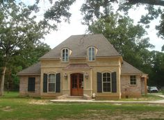 french+country+louisiana+house+plans | front elevation | french