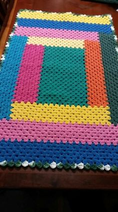 Patchwork Baby Stitching 59 Ideas For 2019 Afghan Crochet Patterns, Crochet Granny, Baby Blanket Crochet, Crochet Afghans, Easy Crochet, Crochet Baby, Free Crochet, Crochet Stitches, Crochet Table Mat