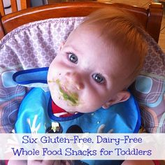 Gluten-Free, Dairy-Free Whole Food Snacks for Toddlers on www.SimplySugarAndGlutenFree.com