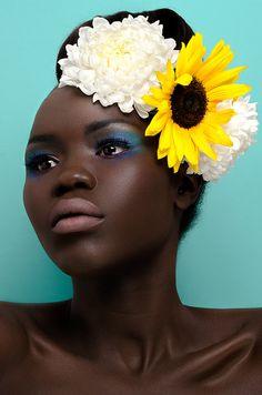 Photographer: Thandiwe Muriu Makeup Artist: Cultured Ego Model: Anok Kuol