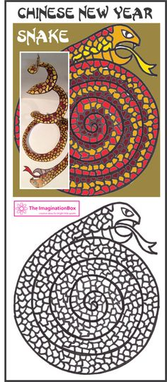 Download a free Chinese New Year Snake mobile template, along with a collection of 10 or more activity ideas and free printable colouring sheets to celebrate Chinese New Year with children (and adults!) of all ages. Worksheets include cherry blossom, dragons, lanterns, the goat, the horse, the snake. Visit The Imagination Box for details.