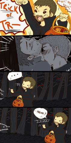 halloween in purgatory by deanosaurrawr on deviantART// I don't ship Destiel... but Benny is the most adorable thing here!!