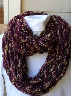 Handmade arm knit infinity scarf. Check out my Facebook page https://www.facebook.com/WarmButterfly