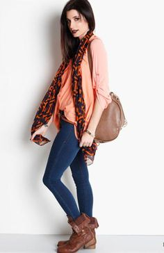 Fold-Over Combat Boot - - DailyLook  This outfit though.