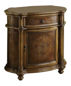 Another great find on #zulily! Light Brown Traditional One-Drawer Bombay Cabinet #zulilyfinds