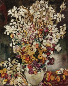 ❀ Blooming Brushwork ❀ - garden and still life flower paintings - Louis Valtat   Bouquet of Flowers