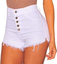 Creative High Quality Gift Denim Shorts Cute Stylish Trendy Item Chic Magic Novelty New Practical Women Grateful – Fashion High Waist Shorts Women Distressed Denim Shorts, Washed Denim, Denim Pants, Sexy Shorts, Skinny Shorts, Hot Pants, Short Sexy, Jean Court, Edgy Outfits
