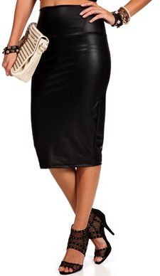 #Windsor                  #Skirt                    #Black #High #Waist #Faux #Leather #Skirt           Black High Waist Faux Leather Skirt                                           http://www.seapai.com/product.aspx?PID=1761708