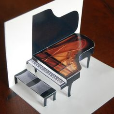 Make a grand piano (card) in minutes