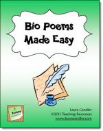 Bio Poems Made Easy--use for characters, famous people, or students themselves