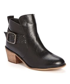 Look what I found on #zulily! Black Bermuo Ankle Boot #zulilyfinds