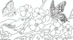 Animal Coloring Pages For Adults | Coloring Pages of Spring Flowers