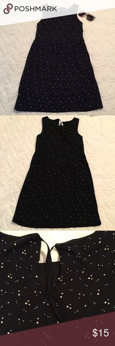 """LOFT Dress Cute sleeveless, dot patterned dress from LOFT. Style with a cardigan and boots for fall! In good condition. Smoke free home.  Bust - 15"""" 