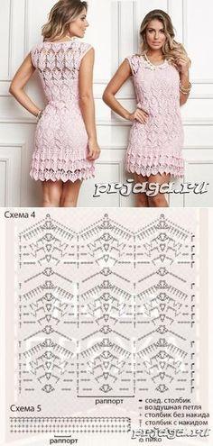 gancho de color rosa vestido de verano