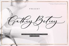 Cathiy Betiey Script Font