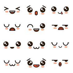 Niedliche Gesichter Kawaii Emoji Cartoon Premium Vektor - Draw me in! - Niedliche Gesichter Kawaii Emoji Cartoon Premium Vektor – Draw me in! Emoji Drawings, Easy Doodles Drawings, Cute Easy Drawings, Cute Kawaii Drawings, Simple Cartoon Drawings, Emoji Kawaii, Griffonnages Kawaii, Arte Do Kawaii, Cute Emoji
