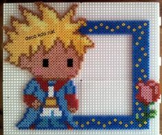 The Little Prince photo frame hama perler beads by deco.kdo.nat