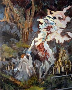 """Hernan BAS  """"The Immaculate lactation of Saint Bernard"""" 2007"""