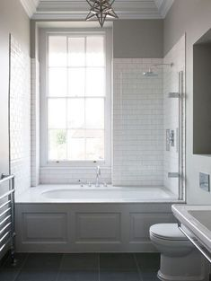 Badezimmer Small Bathroom Tub Shower Combo Ideas How Contemporary Office Furniture Can Help Your Bathtub Shower Combo, Shower Over Bath, Bathroom Tub Shower, Bathroom Renos, Bathroom Remodeling, Remodeling Ideas, Shower Window, Small Bathroom With Tub, Shower With Tub