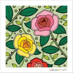 Delicate combination by @emmajulian16 http://colorfy.net/app #colorfy #colorfyapp #getinspired #flowers #florals #beautiful #colorful #coloring #therapy #joy #nature #Flower #Colorfy #Nature #drawing #picture #painting