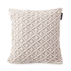 Macrame Pillow Cover 18 Quot Ivory Pillows Craft And
