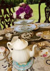 Table Settings for a Tea Party stock photo