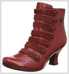 Hush Puppies Tiffin Verona, Damen Kurzschaft Stiefel, Red (Red Leather), 39