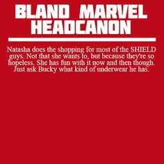 Bland Marvel Headcanons | Why do you insist on posting these things that I can never un-think?