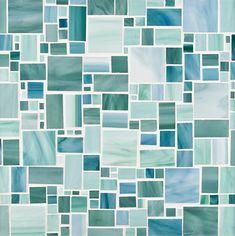 Chrysalis - Large Applique in Ocean Breeze, Light Aqua and Green Mint