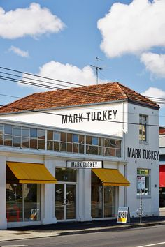 Mark Tuckey shop. Fitzroy neighborhood. Melbourne