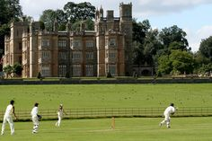 Cricket pitch at Englefield House in Reading, Berkshire