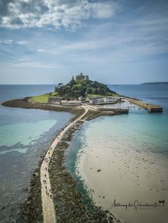 """wanderthewood: """" St Michael's Mount, Cornwall, England by Anthony de Schoolmeester """" Places To Travel, Places To See, Cornwall Beaches, St Michael's Mount, Hidden Beach, Mont Saint Michel, English Countryside, Landscape Photography, City Photography"""